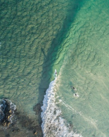 Surfers Captured on Drone