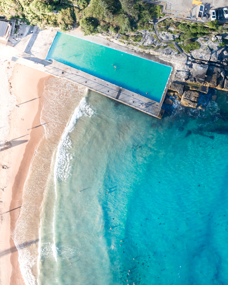 Queenscliff Ocean Pool Aerial