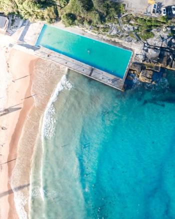 Queenscliff Ocean Pool Aerial
