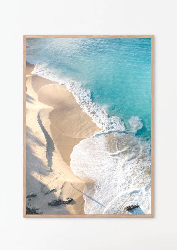 Coastal Ocean Aerial Wall Art Print