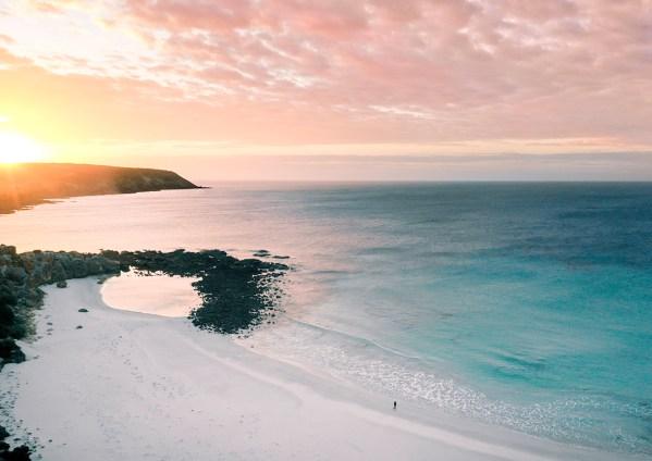 Stokes Bay Kangaroo Island Aerial Photography Print