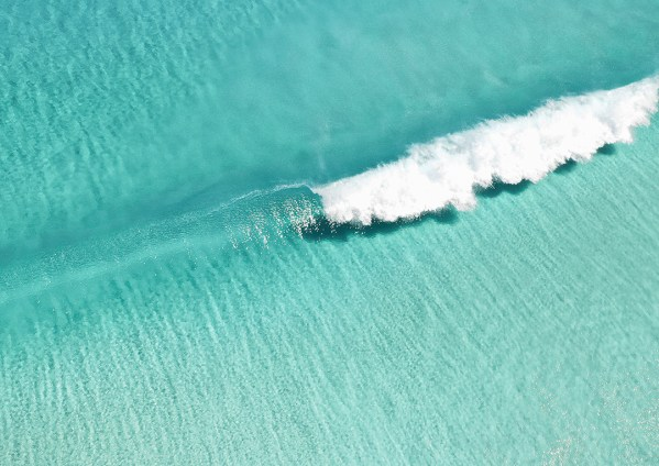 Aerial Turquoise Wave Print