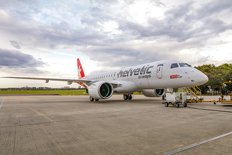 Embraer's 1,600th E-Jet Delivered to Helvetic Airways