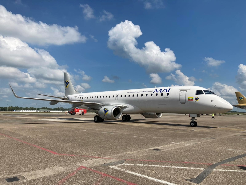 Embraer E190 commences revenue flights with Myanmar Airways International
