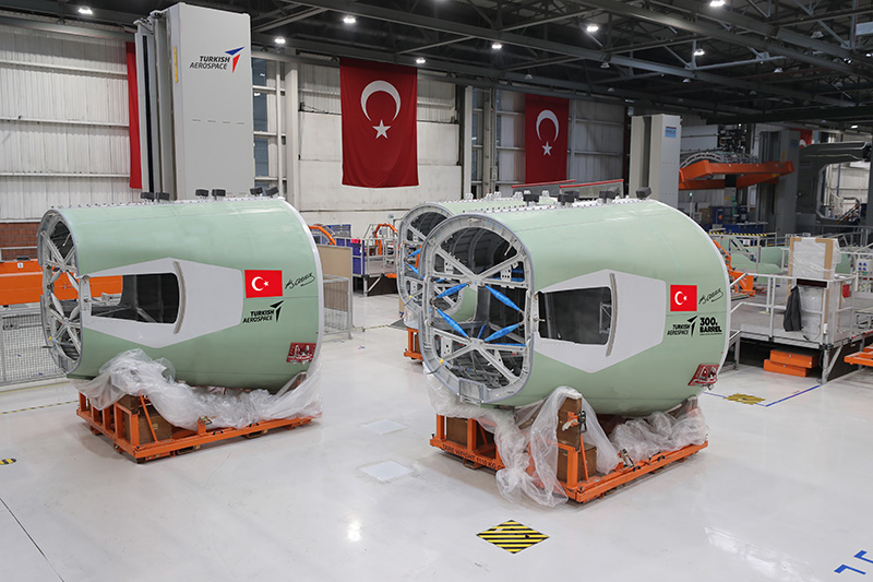 TURKISH AEROSPACE-AIRBUS A320 SECTION 19 PROGRAM 300TH BARREL DELIVERY
