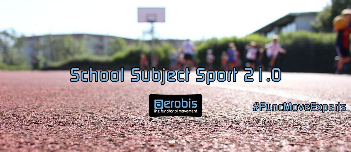 banner school subject sport physical education children playing field