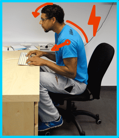 office sitting posture postural defect
