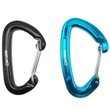 aeroSling carabiner black and blue-new