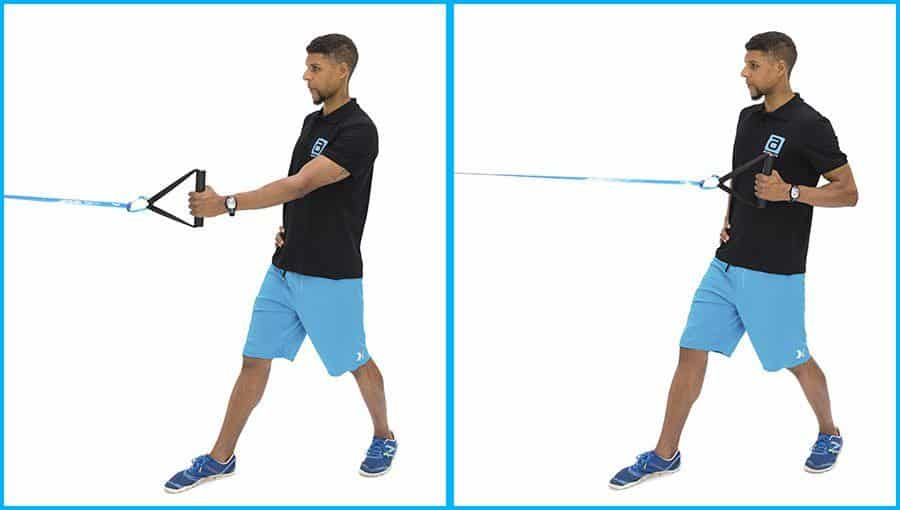 alphaband strength training exercise standing row