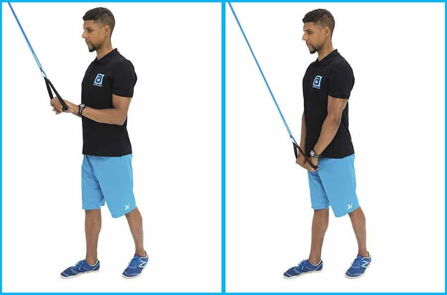 alphaband strength training exercise triceps press