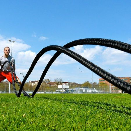 Allenamento outdoor Battle Rope