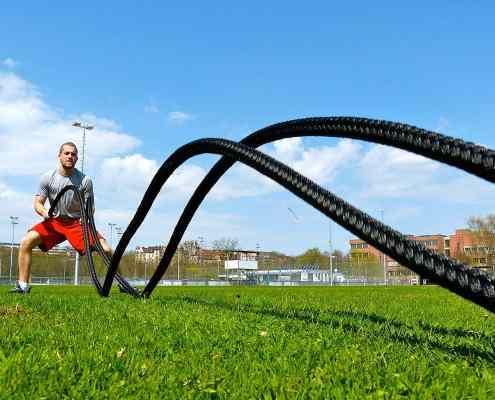 Batalla de entrenamiento al aire libre