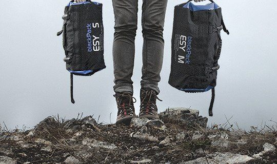 The blackPack sandbag is available in different sizes