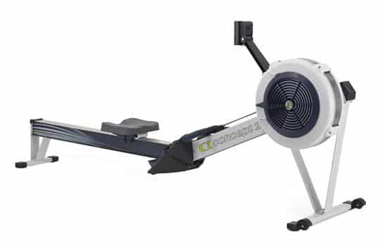 rowing with a rowing machine