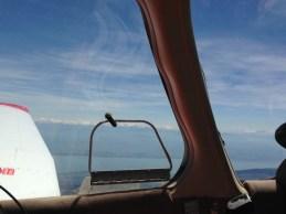 Le lac de Genève est maintenant main gauche, mais avec une route au 270°