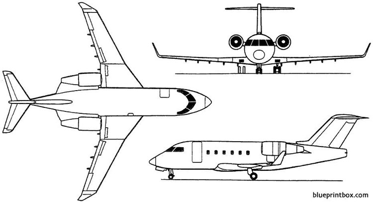 bombardier challenger 600 601 604 1978 canada Plans