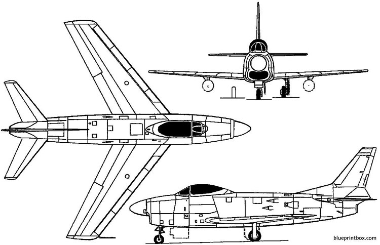 north american f 86d yf 95 dog sabre 1949 usa Plans