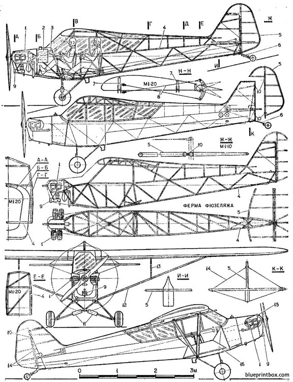 piper cub : AeroFred R/C Model Airplane Plans