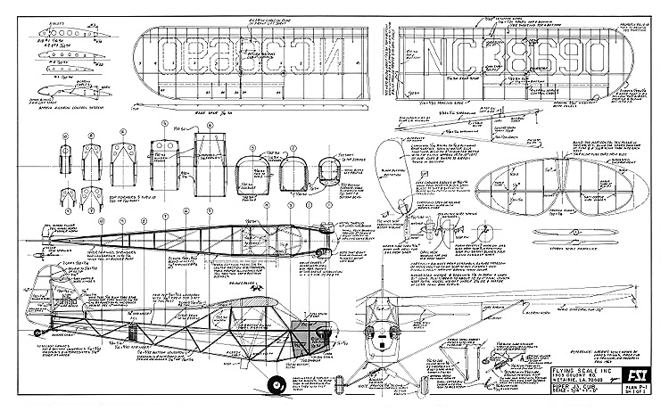 airplane wing parts diagram walk in freezer wiring piper j3 cub fsi plans - aerofred download free model