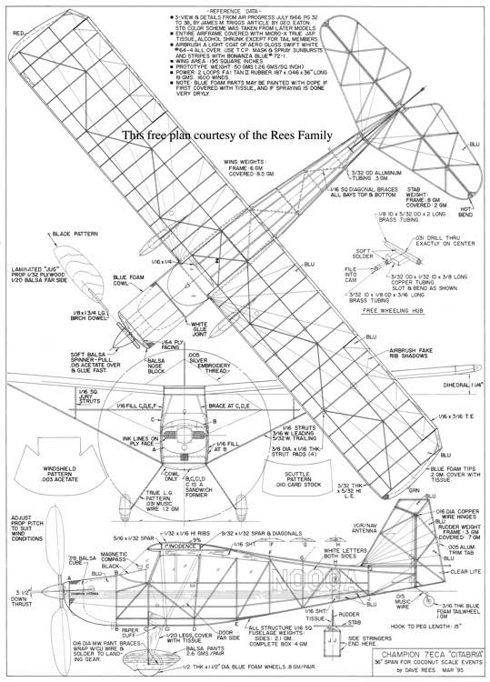Citabria Pro : AeroFred R/C Model Airplane Plans