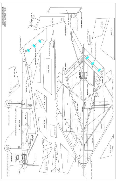 F 117 Rc Plane Plans