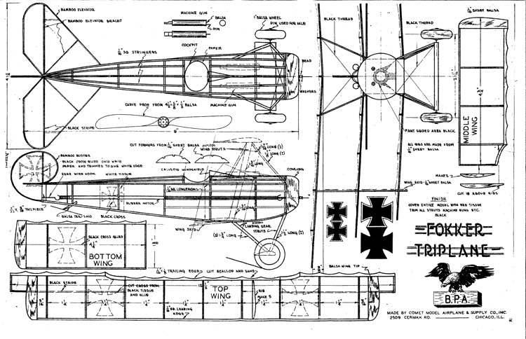 Fokker dr1 foam plans