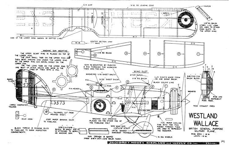 everest : AeroFred R/C Model Airplane Plans