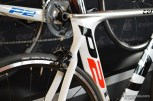 """From this angle, it is clear just how much is different from the P2 """"Classic"""" and the new P2. Note the height of the down tube and the relatively shallow cutout for the rear tire."""
