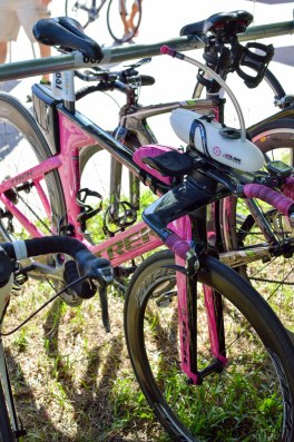 We loved how the bike matched the magenta XLAB Torpedo