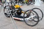 It was not just bikes racked in transition.