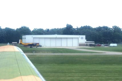 Here's the view of the museum from just above the runway as we landed.