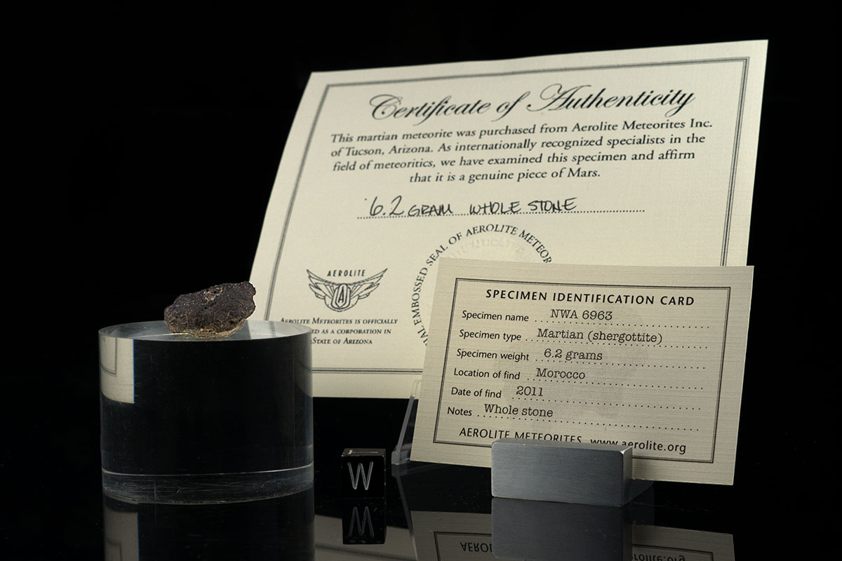 NWA 6963 6.2 Grams with specimen card and certificate of authenticity