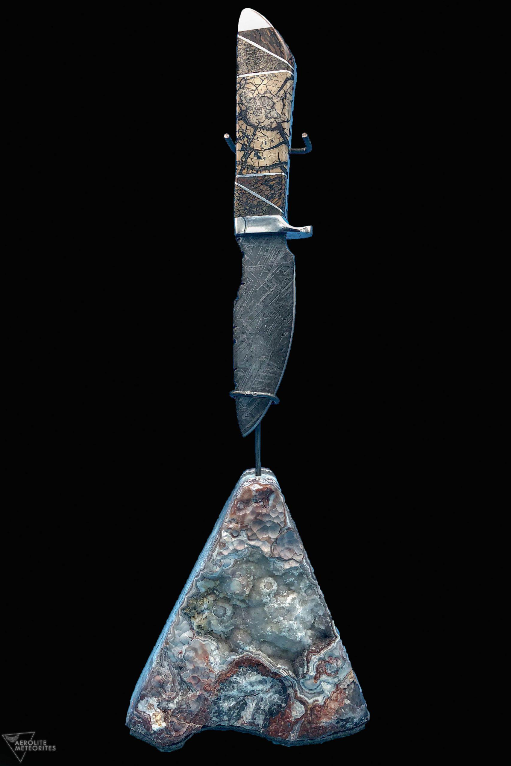 meteorite dinosaur knife