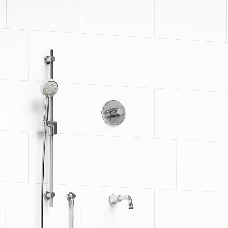 Momenti U2013 ½u201d 2 Way Type T/P Coaxial System With Spout And Hand Shower Rail  U2013 KIT#1223MMRD+
