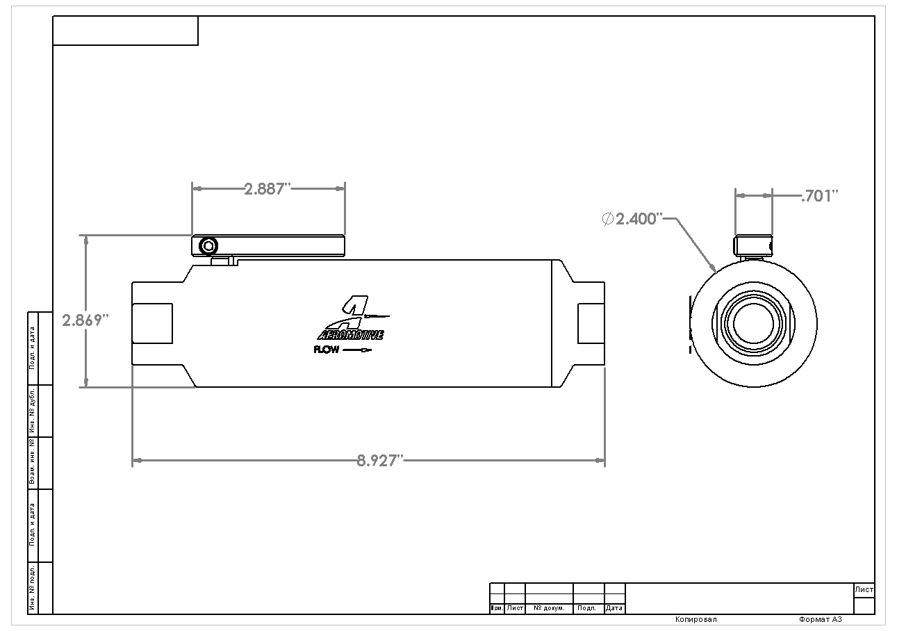Orb 12 Shutoff Valve Fuel Filter Aeromotive Inc