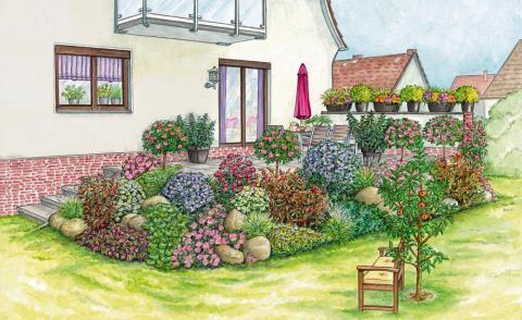 Bepflanzung bschung terrasse