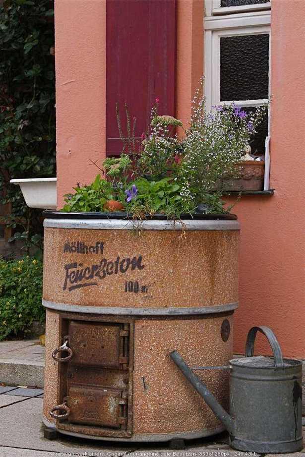 Gartendeko aus alten sachen
