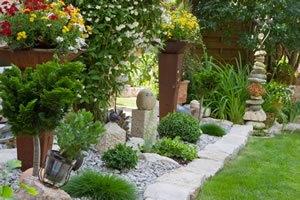 Steingarten mit grsern anlegen