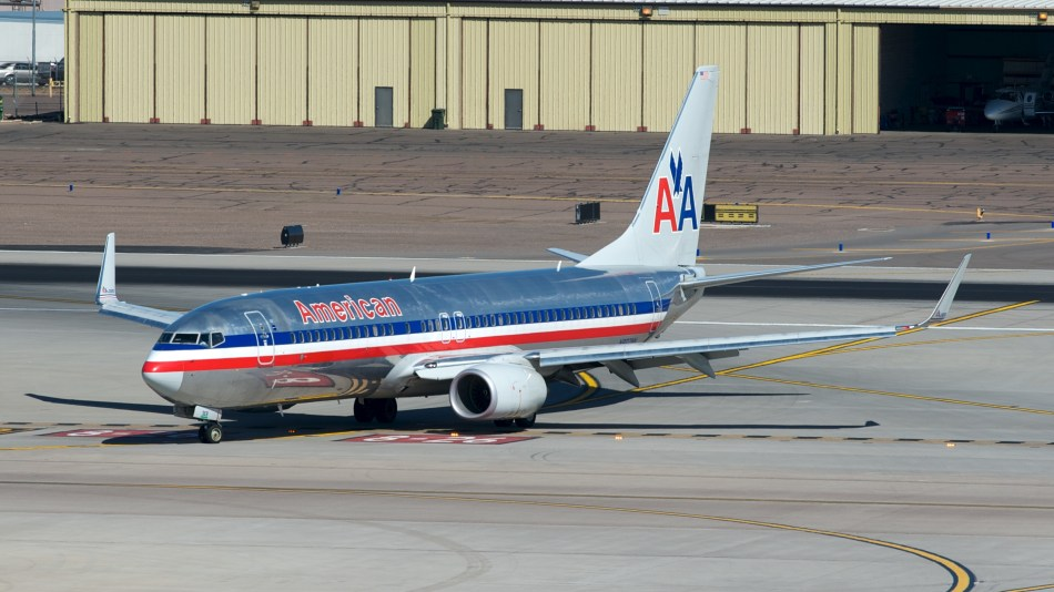 Taxing at PHX. Taken from the T4 parking structure.