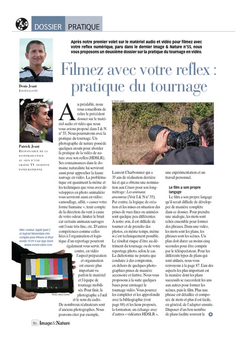 Article video2  image & nature n°56 page 1