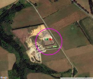 Vue satellite de la déchèterie de chubiguer à Belle-île-en-mer (56) - Google Map