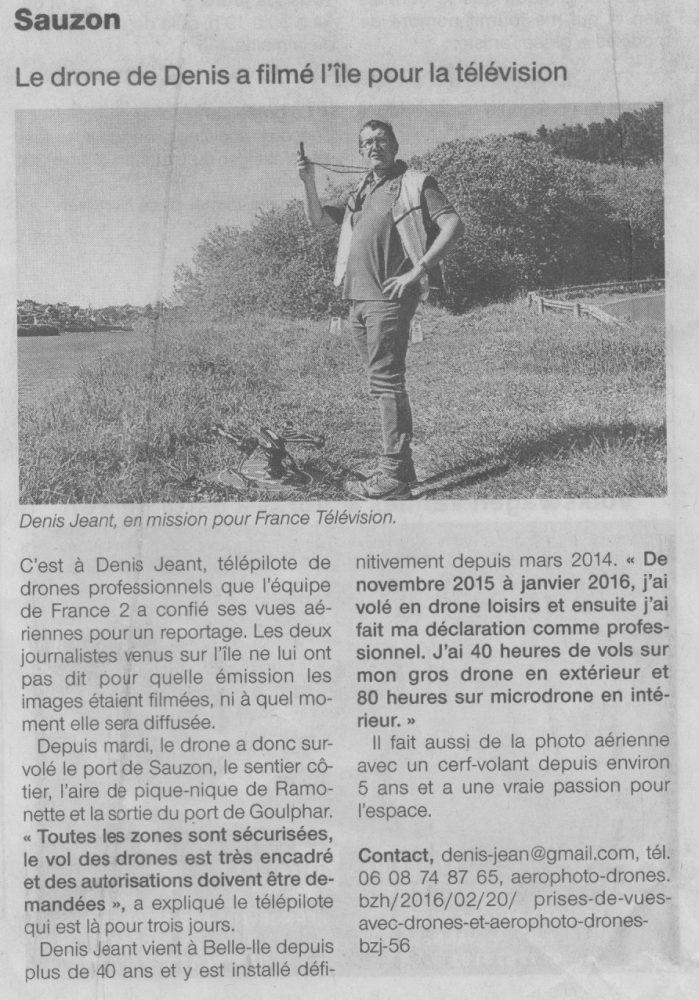 Page Ouest-France du 12 mai 2016