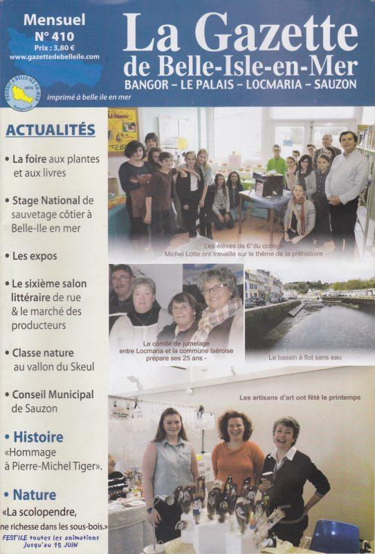 couv Gazette de Belle-isle-en-mer n°410
