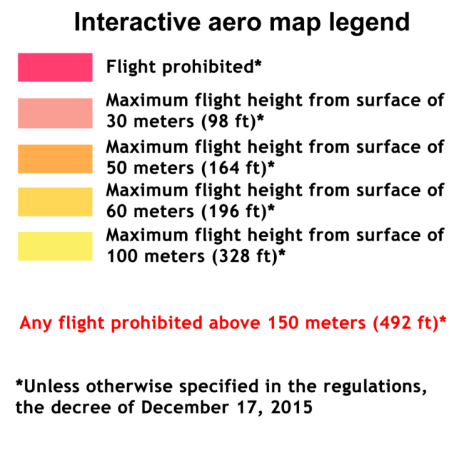 aero map legend