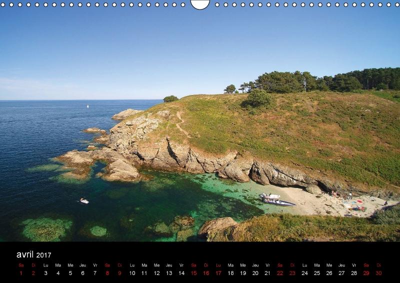 Vue de la plage Port Yzed pour avril 2017