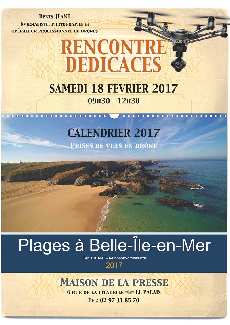 Affiche dédicaces calendrier 2017 palais