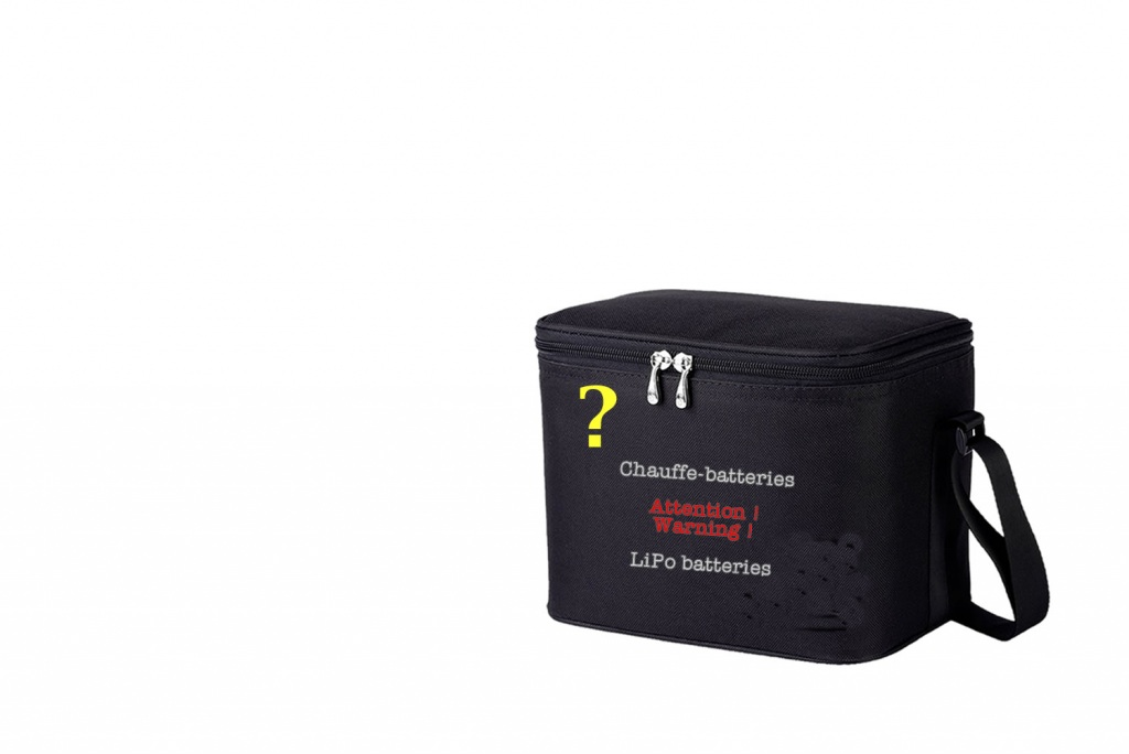 2e prototype de sac chauffe-batteries, avec chaufferettes, pour drones