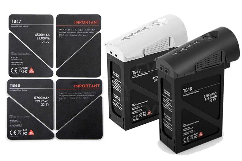 autocolants isolants DJI pour batteries DJI Inspire 1