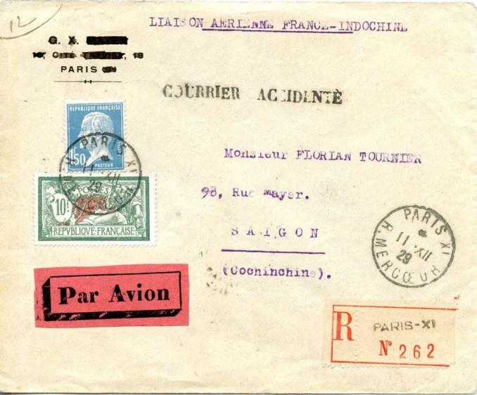 Le courrier postal du Paris-Saigon a été sauvé.