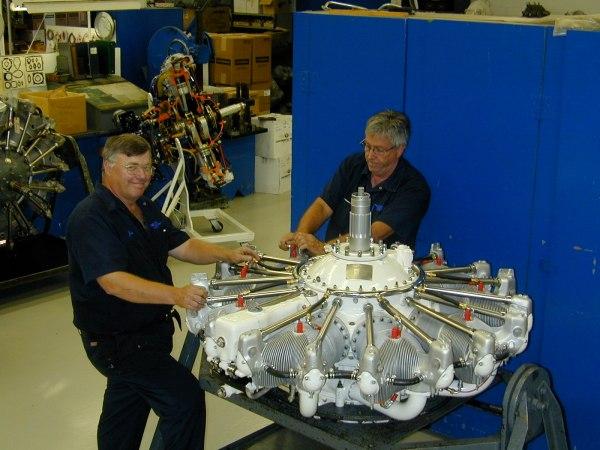 engine being overhauled